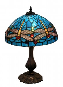 Blue Dragonfly Glass Lampshade